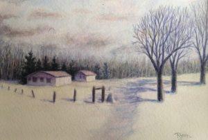 snowy road image